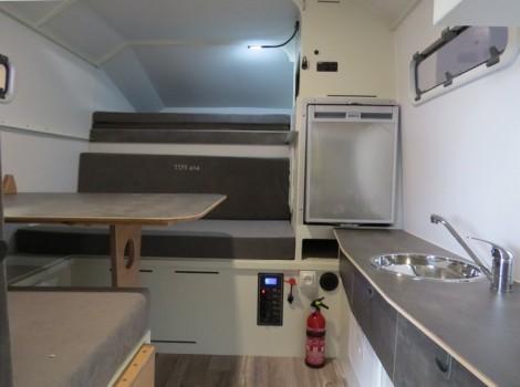 intérieur cosy dans la TIPI4x4